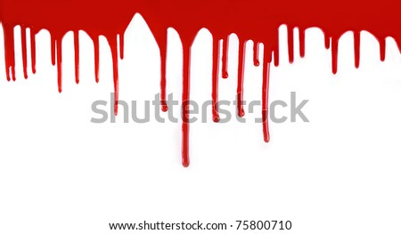 high resolution confluent blood isolated on white background - stock photo