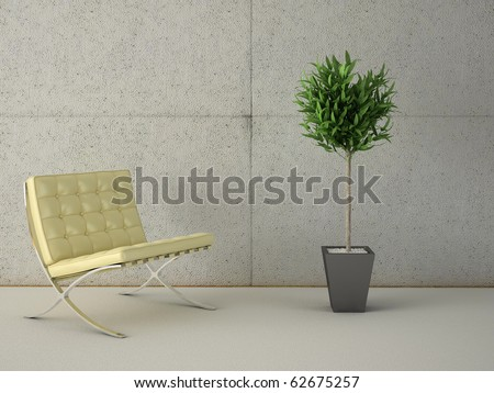 high resolution 3d image of a modern interior