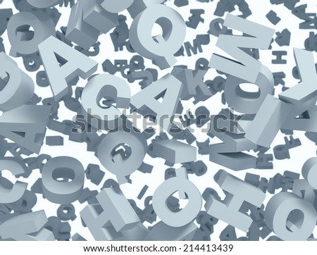 High resolution 3d image of the alphabet - stock photo