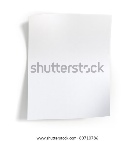 High-resolution 3d rendering, Beautiful shadows of normal blank paper.