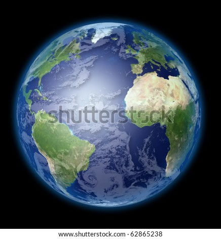 High Resolution Earth - stock photo