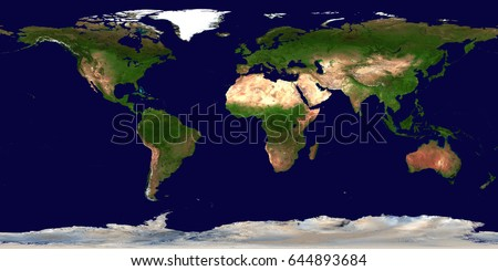 High resolution earth continents flat world stock photo royalty high resolution earth continents flat world map from space elements of this image furnished by gumiabroncs Gallery