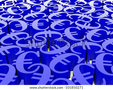 High resolution image. 3d rendered illustration. Digital illustration of a euro.