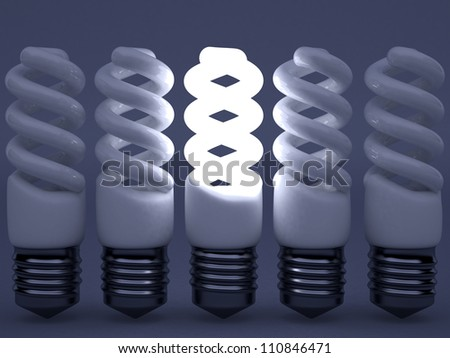 High resolution image. 3d rendered illustration. Light bulb symbol. - stock photo