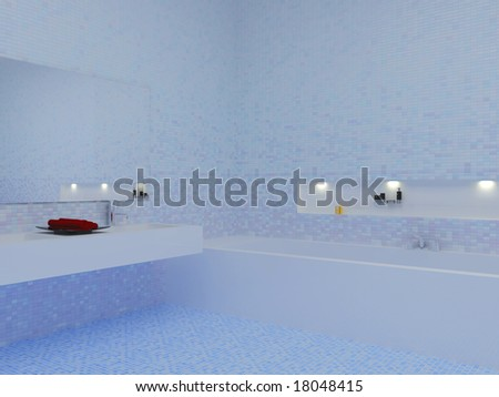 high resolution image interior a bathroom in modern style 3d