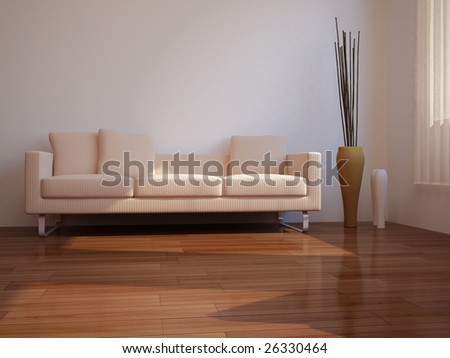 High Resolution Image Interior 3d Illustration Modern Living Room