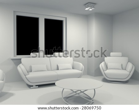 High Resolution Image Interior. 3d Illustration Modern Interior. Living Room . Part 87