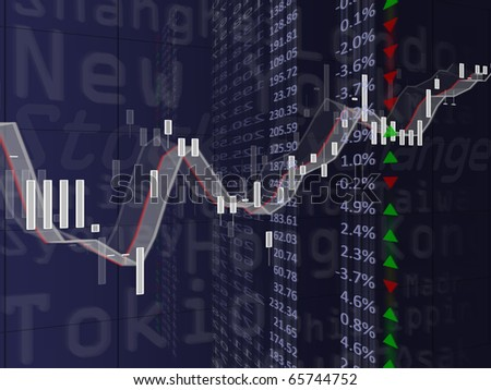 High resolution image of a financial chart. Concept image for stock exchange, finances and data. - stock photo
