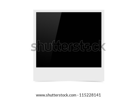 High resolution image of blank photo for designs and frames. - stock photo