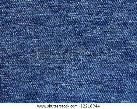 High resolution image of blue denim cotton material. - stock photo
