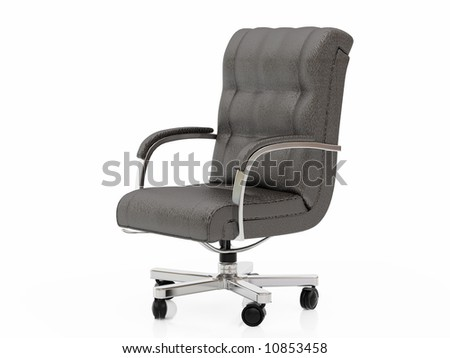 High resolution image office armchair. 3d illustration over  white backgrounds.
