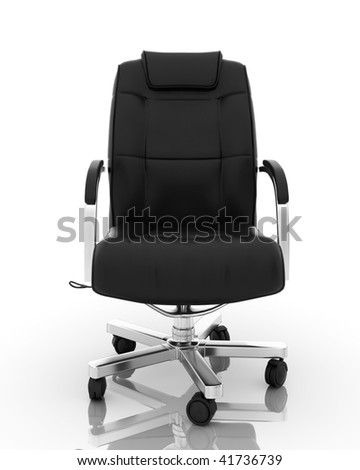 High resolution image office armchair. Perfect 3d illustration with the highest resolution isolated on white - stock photo