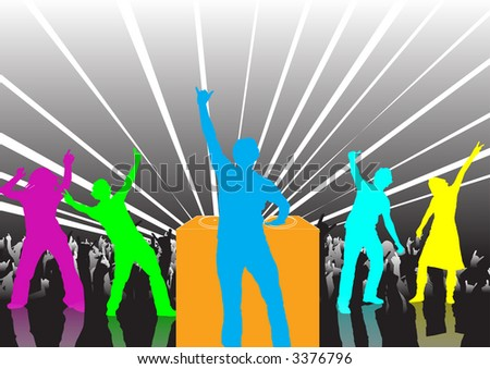 High resolution JPG image of happy people dancing at a party
