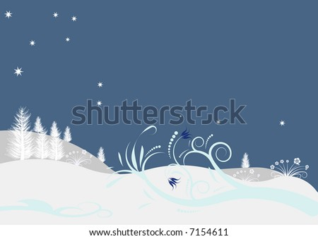 High resolution JPG of a beautiful abstract vector winter design