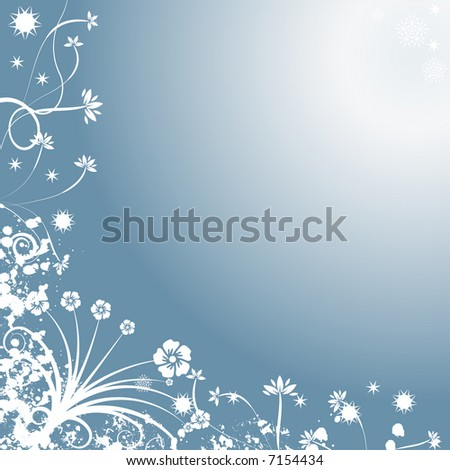 High resolution JPG of a decorative abstract winter vector background