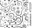 High resolution JPG of a trendy seamless pattern winter design - stock photo