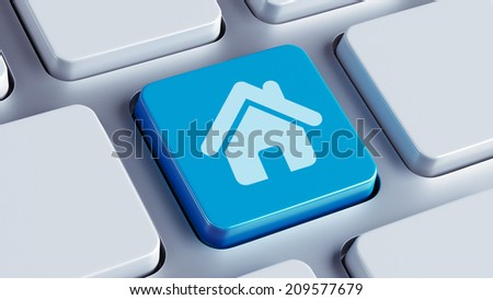 High Resolution Keyboard Home Icon - stock photo