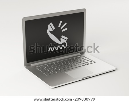 High Resolution Laptop Contact Icon