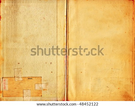 High resolution old grunge paper texture with age marks. - stock photo