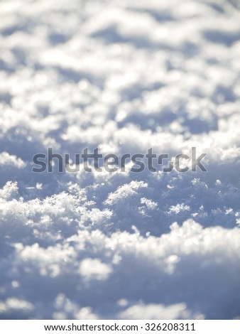 High resolution photo of Snow pattern close up - stock photo