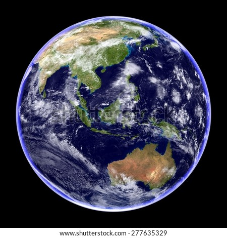 High Resolution Planet Earth Isolated on Black - Elements of this image furnished by NASA