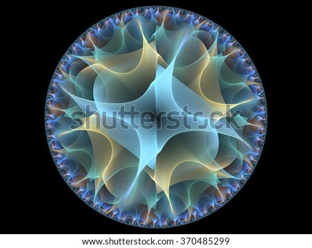 High resolution render of intricate fractal pattern for use in graphic design and art