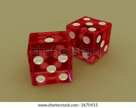 High resolution rendering of a pair of dice.