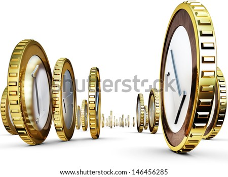 high resolution rendering of an money concept - stock photo