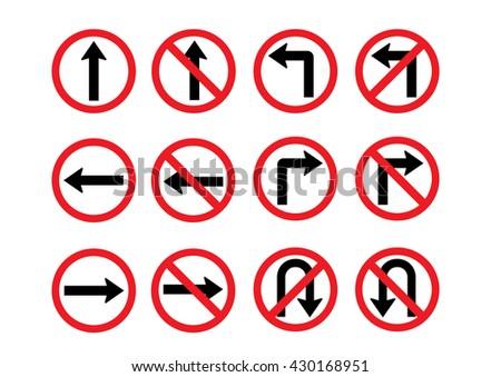 high resolution road sign clipart art stock illustration 430168951