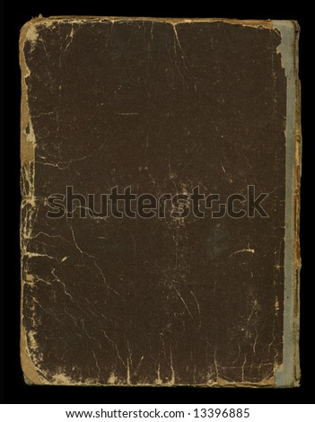 high resolution scan of retro book cover. nice rich texture. original color is preserved - stock photo