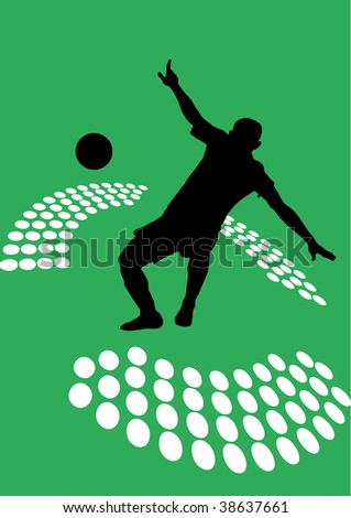 High resolution soccer poster - stock photo