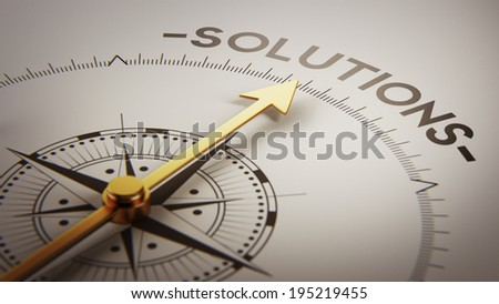 High Resolution Solution Concept - stock photo