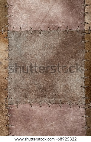 High resolution stiched suede leather texture - stock photo