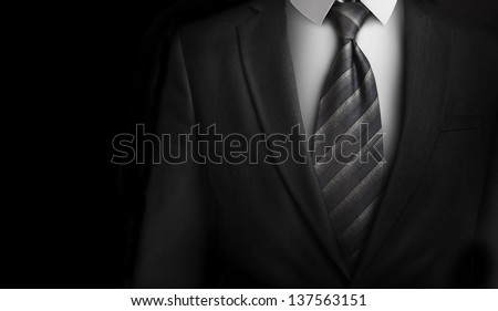 High Resolution suit with a gray tie - stock photo