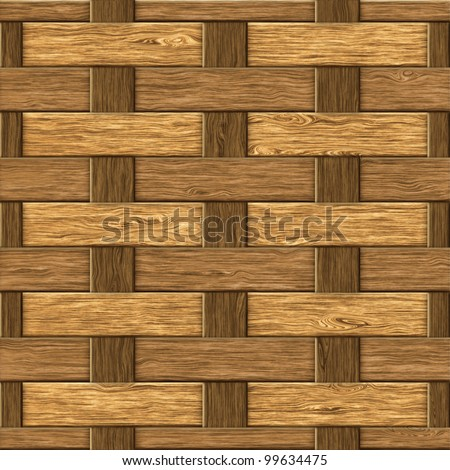High resolution textured of wood fiber weaving background. Seamless pattern, computer graphic - stock photo