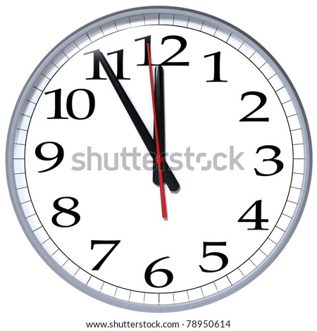 "High resolution ""The hour is late"" clock template/The hour is late clock/isolated on white"