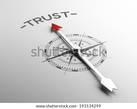 High Resolution Trust Concept - stock photo