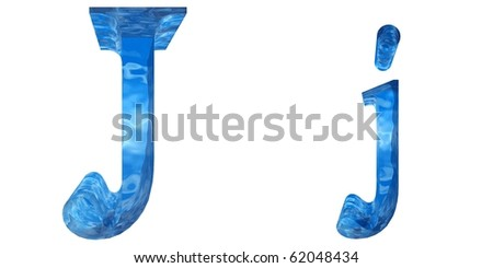 High resolution water font isolated on white background