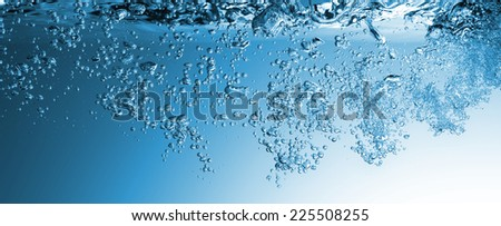 High resolution. Wave and bubbles to clean drinking water  - stock photo