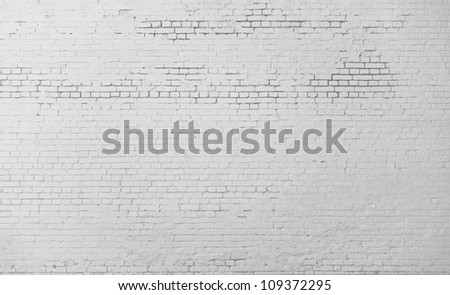 High resolution white brick wall - stock photo