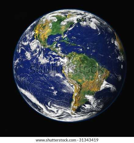 High resulotion 3d render of planet. Shaded relief naturel colors,map,black. - stock photo