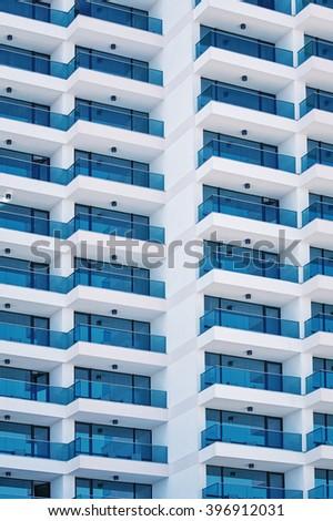 High-rise Building Facade - stock photo