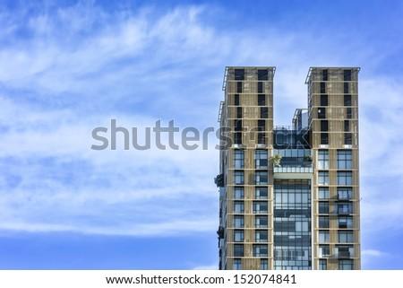 high-rise building in bangkok - stock photo