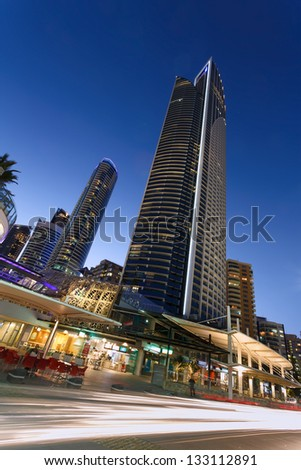 high rise building in Gold Coast, QLD, Australia - stock photo