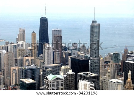 High Rise Buildings in Chicago, Illinois USA - stock photo