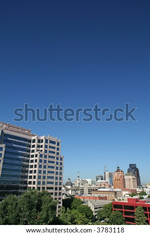 High-rise buildings in downtown Sacramento - stock photo