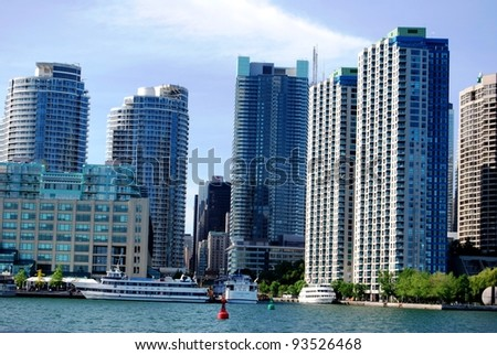 High Rise Buildings in Downtown Toronto Waterfront, Canada - stock photo