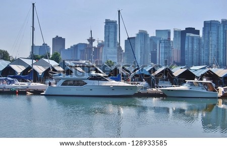 High Rise Buildings in Downtown Vancouver, Canada - stock photo