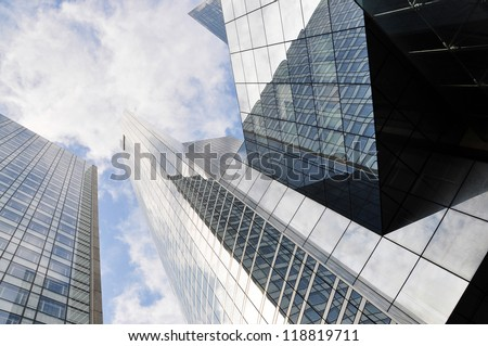 High-rise buildings in La Defense district of Paris - stock photo