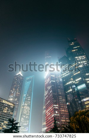 High-rise buildings in Shanghai's modern city